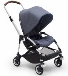 Bugaboo - Bee5 Complete Stroller - Aluminum /Blue Melange/Blue Melange