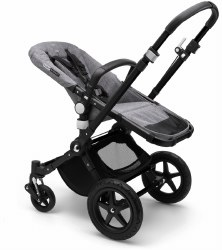 Bugaboo - Cameleon 3 Plus Stroller Base - Black - Grey Melange