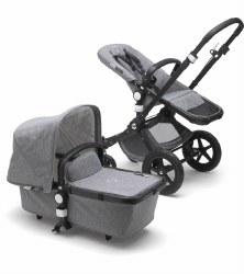 Bugaboo - Cameleon 3 Plus Classic Complete Stroller - Black - Grey Melange