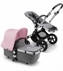 Bugaboo - Cameleon 3 Plus Complete Stroller - Aluminum - Grey Melange - Soft Pink