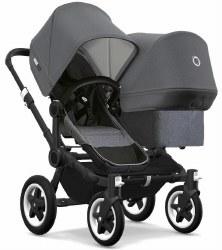 Bugaboo - Donkey2 Duo Configuration Stroller - Black - Grey Melange - Grey Melange - Grey Melange