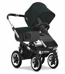 Bugaboo - Donkey2 Mono Configuration Stroller - Aluminum - Grey Melange - Black
