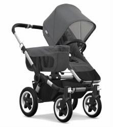 Bugaboo  - Donkey2 Mono Configuration Stroller - Aluminum - Grey Melange - Grey Melange