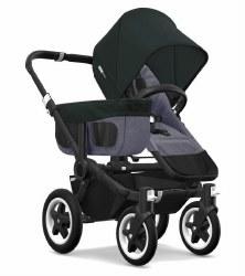Bugaboo - Donkey2 Mono Configuration Stroller - Black - Blue Melange - Black