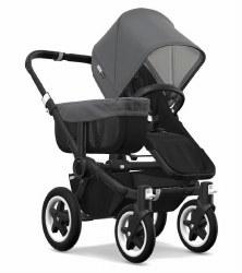 Bugaboo - Donkey2 Mono Configuration Stroller - Black - Black - Grey Melange