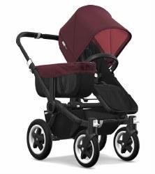 Bugaboo - Donkey2 Mono Configuration Stroller - Black - Black - Red Melange