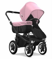Bugaboo - Donkey2 Mono Configuration Stroller - Black - Black - Soft Pink