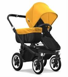 Bugaboo - Donkey2 Mono Configuration Stroller - Black - Black - Sunrise Yellow