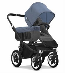 Bugaboo - Donkey2 Mono Configuration Stroller - Black - Grey Melange - Blue Melange