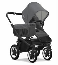 Bugaboo - Donkey2 Mono Configuration Stroller - Black - Grey Melange - Grey Melange
