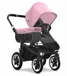 Bugaboo - Donkey2 Mono Configuration Stroller - Black - Grey Melange - Soft Pink