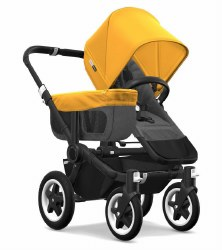 Bugaboo - Donkey2 Mono Configuration Stroller - Black - Grey Melange - Sunrise Yellow