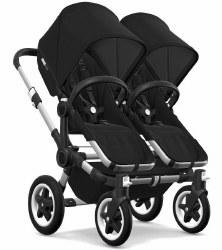 Bugaboo - Donkey2 Twin Configuration Stroller - Aluminum - Black - Black - Black
