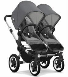Bugaboo - Donkey2 Twin Configuration Stroller - Aluminum - Grey Melange - Grey Melange -  Grey Melange