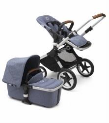 Bugaboo - Fox Complete Stroller - Aluminum Chassis - Blue Melange Seat - Blue Melange Canopy