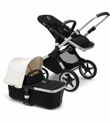 Bugaboo - Fox Complete Stroller - Aluminum Chassis - Black Seat - Fresh White Canopy