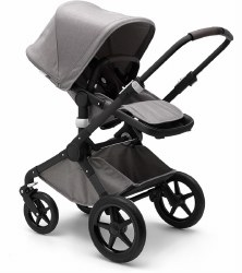 Bugaboo - Fox Complete Stroller Special Edition - Mineral Light Grey - Black Chassis