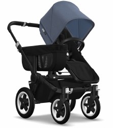 Bugaboo - Donkey2 Mono Configuration Stroller - Black - Black - Blue Melange