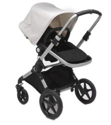 Bugaboo - Lynx Complete Stroller - Aluminum - Black - Fresh White