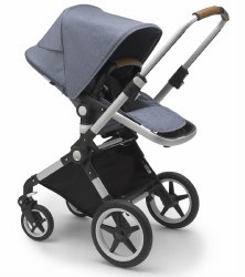 Bugaboo - Lynx Complete Stroller - Aluminum - Blue Melange - Blue Melange