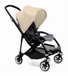 Bugaboo - Bee3 Stroller - Frame Black - Seat Grey Melange - Off White Canopy