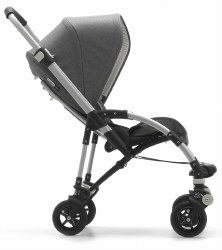 Bugaboo - Bee5 Special Edition Classic Complete Stroller - Aluminum/Grey Melange