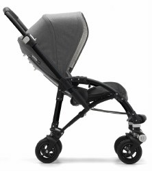 Bugaboo - Bee5 Special Edition Classic Complete Stroller - Black/Grey Melange