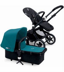 Bugaboo - Buffalo Stroller - Frame Black - Petrol Blue Canopy