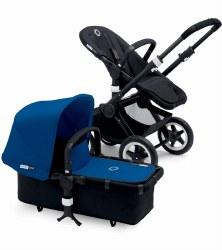 Bugaboo - Buffalo Stroller - Frame Black - Royal Blue Canopy