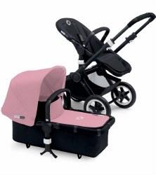 Bugaboo - Buffalo Stroller - Frame Black - Soft Pink Canopy