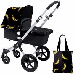 Bugaboo - Cameleon3 Special Edition Tailored Fabric Set - Banana/Black