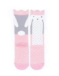 N L - Socks - Rabbit with Crown 12-24M