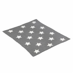 Cambrass - Cotton Blanket - Stars Grey
