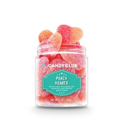 Candy Club - Sour Gummy - Peach Hearts
