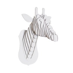 Cardboard Safari - Cardboard Animal - Giraffe L White