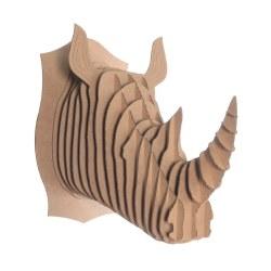 Cardboard Safari - Cardboard Animal - Rhino L Brown