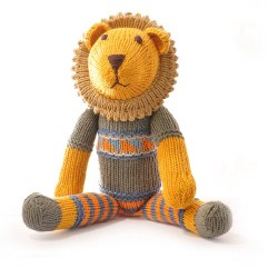 Knitted World - Knitted Dolls - Lion Grey Sweater