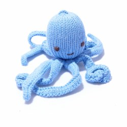 Knitted World - Knitted Dolls - Octopus Sky Blue