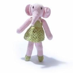 Knitted World - Knitted Dolls - Elephant Girl Ballet Dress Green