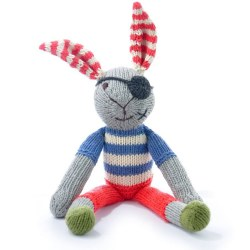 Knitted World - Knitted Dolls - Pirate Rabbit