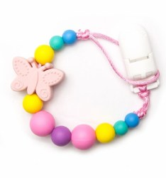 Nini & Loli Find - Paci Holder - Butterfly Pink