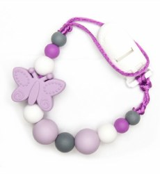 Nini & Loli Find - Paci Holder - Butterfly Purple
