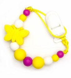 Nini & Loli Find - Paci Holder - Butterfly Yellow