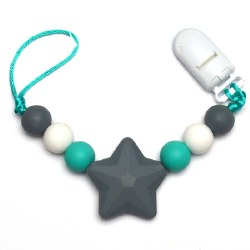 Nini & Loli Find - Star Paci Holder - Grey