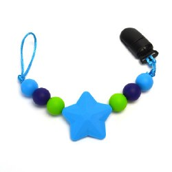 Nini & Loli Find - Star Paci Holder - Blue