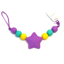 Nini & Loli Find - Star Paci Holder - Purple