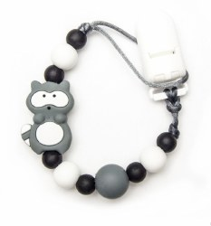 Nini & Loli Find - Paci Holder - Racoon Grey