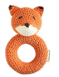 Cheengoo - Crochet Ring Rattle - Fox