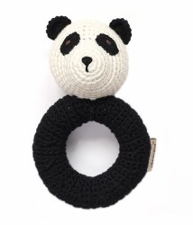 Cheengoo - Crochet Ring Rattle - Panda