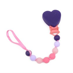 Chewbeads - Paci Holder Heart